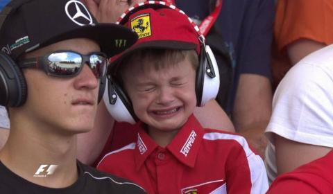 F1: gran gesto de Ferrari con el niño que lloraba en la grada