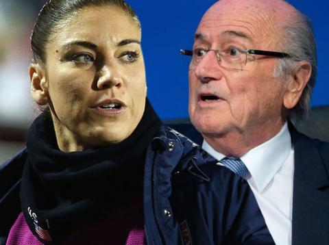 Hope Solo denuncia públicamente a Joseph Blatter por acoso sexual