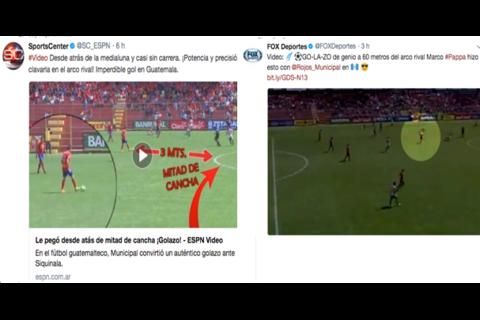 Medios internacionales destacan así el golazo de Marco Pappa