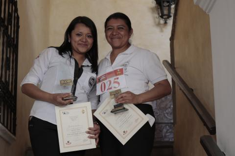 Sandra Hernández, la reina de la competencia de meseros