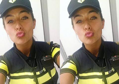 La historia de la mujer que dejó la policía para convertirse en modelo