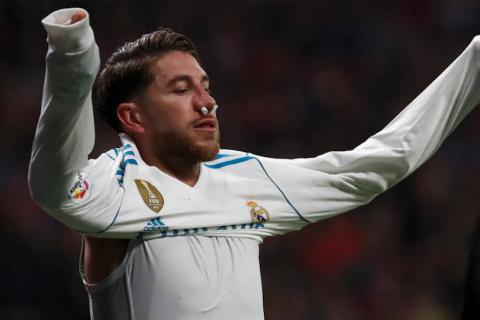 Ramos muestra la máscara con la que jugará sus próximos partidos