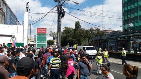Balacera en la zona 9 capitalina deja un muerto y varios heridos