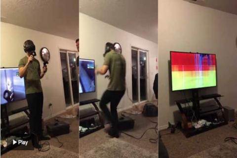 El horrible susto de un hombre que experimentó con la realidad virtual