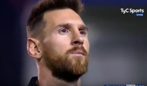El himno argentino en La Bombonera emocionó así a Leo Messi