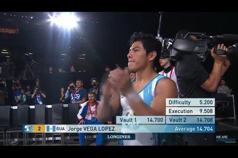 Jorge Vega es el quinto mejor gimnasta del mundo