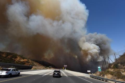 Impresionantes imágenes de los incendios en una región de California
