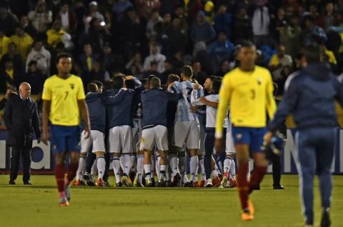 Jugadores de Ecuador se fueron de fiesta previo a recibir a Argentina