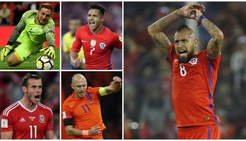Ellos son los cracks que no estarán en el Mundial de Rusia 2018