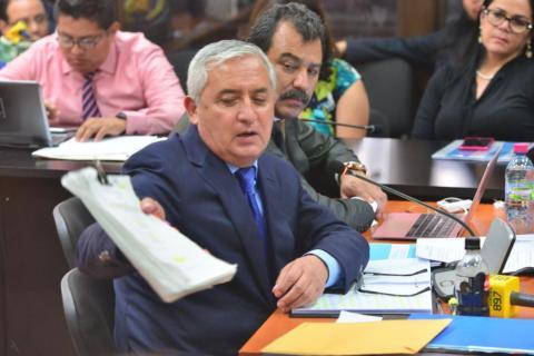 Así se defendió Otto Pérez Molina ante el juez Miguel Ángel Gálvez