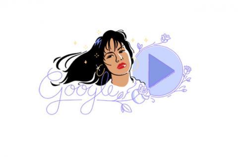 """La historia detrás del """"Doodle"""" de Selena Quintanilla"""