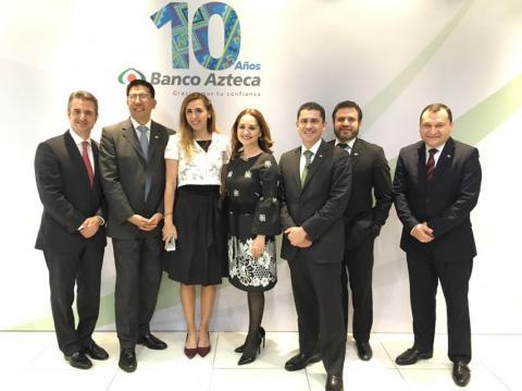 Banco Azteca cumple diez años en Guatemala