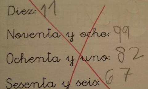 El ejercicio de un niño de 7 años que se hizo viral por su ingenio