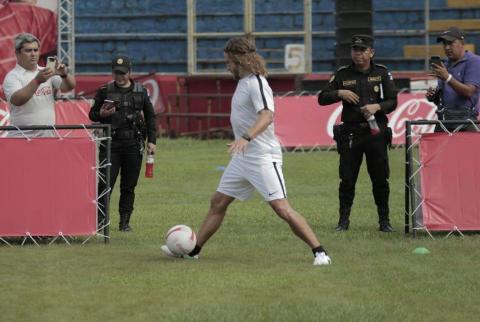 Así fue el dispositivo de seguridad para Puyol en Guatemala