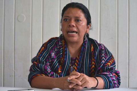 La guatemalteca finalista al Premio Sajarov del Parlamento Europeo