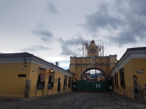 Esta es la causa del cierre de la calle del Arco en Antigua Guatemala