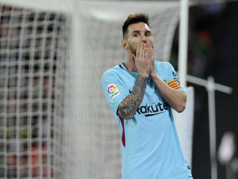 El increíble gol que falló Lionel Messi frente al Bilbao