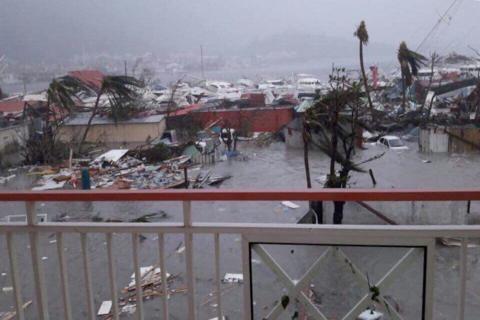 Las devastadoras imágenes que dejó el huracán Irma en el Caribe