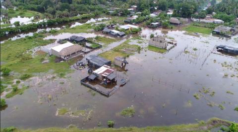 Lluvias provocan serias inundaciones en Escuintla