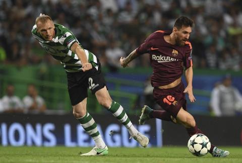 Las escasas pero mágicas jugadas de Messi ante el Sporting de Lisboa