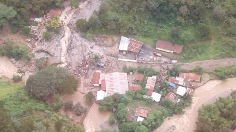 Sube el número de fallecidos por desborde de río en Alta Verapaz