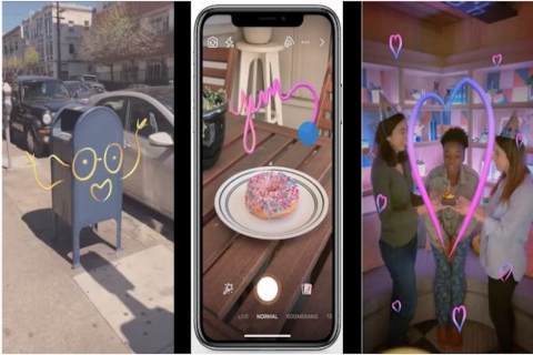 Facebook añade efectos de realidad aumentada en sus historias