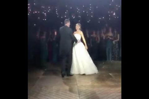 Romántico baile de bodas casi termina en tragedia por un incendio