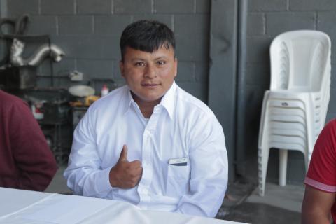 Pedro Manuel se despide de sus jefes para empezar una nueva vida