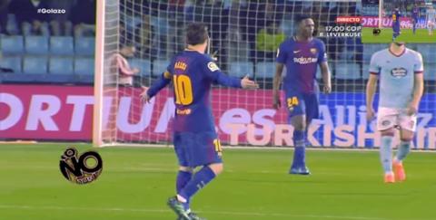 El fuerte regaño de Messi a Mina, lo que no se vio del Barça - Celta