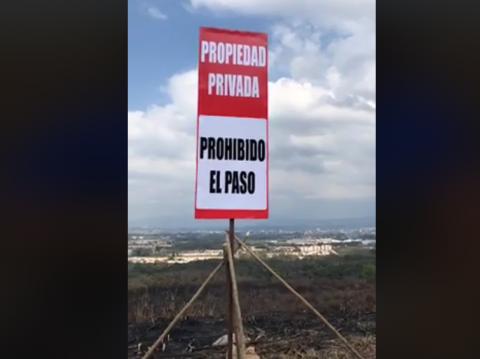 Neto Bran sospecha que incendio en el Naranjo fue provocado
