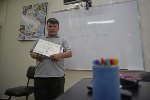 Pedro Perebal, un ragazzo que podrá practicar su italiano