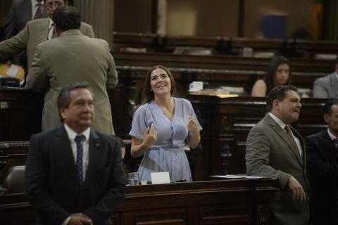 """Diputada de FCN insulta a colega que escribió """"pacto de corruptos"""""""