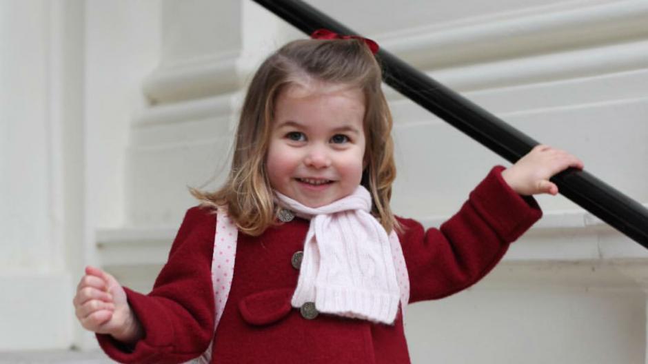 La princesa Carlota hizo historia a sus dos años
