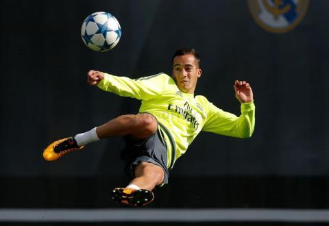 Lucas Vásquez marca un golazo que provocó aplausos en el entrenamiento