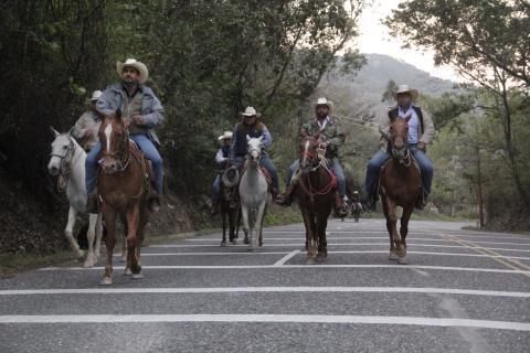 Así es la peregrinación a caballo que llega hasta Esquipulas