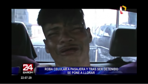 Ladrones se ponen a llorar como estrategia tras ser atrapados en Perú