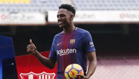 Así se divirtió el último refuerzo del Barça cumpliendo este reto