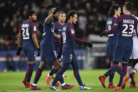 La afición del Paris Saint-Germain se molesta con Neymar Junior