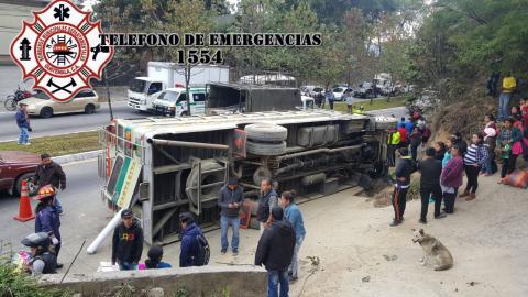 Ataque armado provoca accidente de tránsito en la ruta Interamericana