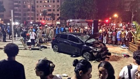 La razón por la que un hombre atropelló a 17 personas en Brasil