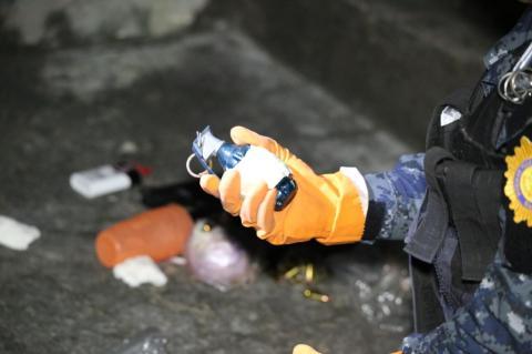 Localizan caleta con armas y granadas en el sector 11 del Preventivo