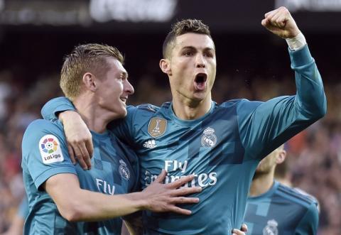 Cristiano Ronaldo festeja su cumpleaños con un curioso pastel