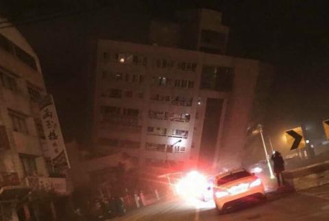 Terremoto en Taiwán: impresionantes imágenes de un hotel colapsado