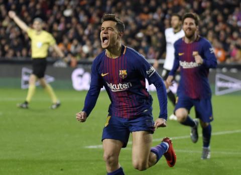Coutinho se estrena con gol y el Barça se clasifica a la final de Copa