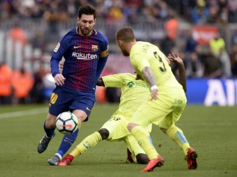 En 45 minutos el Barcelona no puede contra el Getafe