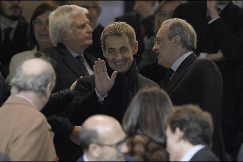Expresidente francés festeja con Florentino Pérez la derrota del PSG