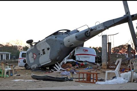 Accidente de helicóptero militar deja 13 muertos en México