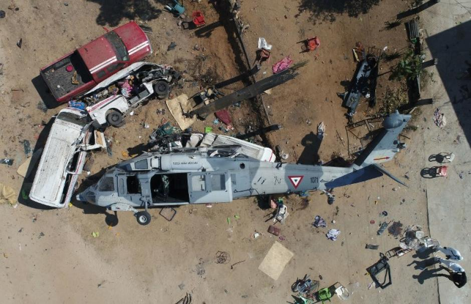 #Video Captan el momento de trágico accidente de helicóptero en México