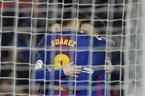 Lluvia de goles en el Camp Nou y el Barça se consolida en el liderato