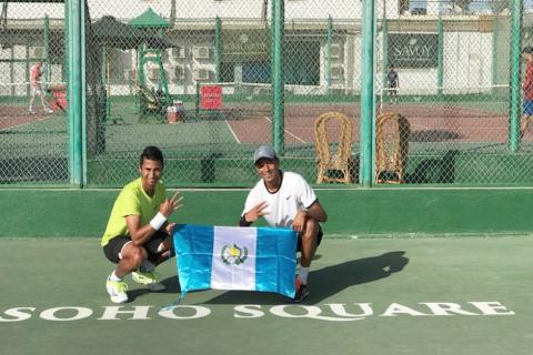 Tenistas guatemaltecos logran tercer triunfo consecutivo en Egipto